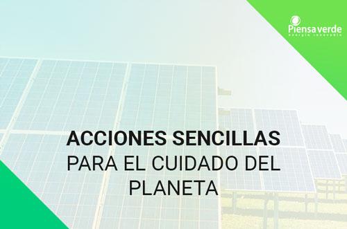 acciones sencillas cuidado planeta